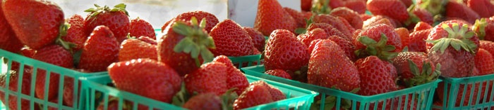 Fresh food like strawberries, available across the Las Vegas valley