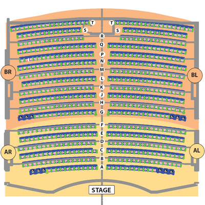 Golden Nugget Seating Chart