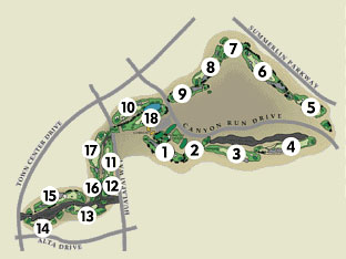 TPC The Canyons Las Vegas Course Layout