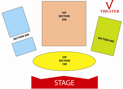 V Theater Seating Chart